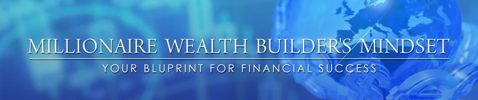 millionaire wealth builders mindset banner logo